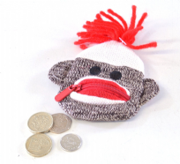 SCHYLLING FUN SOCK MONKEY COIN PURSE